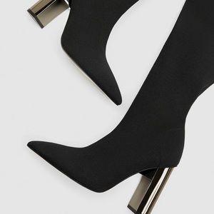 Elastic over knee boots
